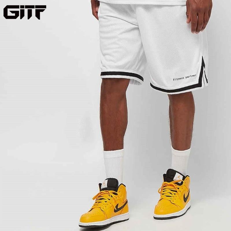 Мужские воздухопроницаемые спортивные шорты GITF, свободные спортивные шорты до колена для фитнеса, бега, 2019|Шорты для бега|   | АлиЭкспресс
