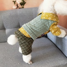 Товары для домашних животных, одежда для маленьких собак, хлопковый свитер для отдыха, рубашка, зимний комбинезон Taddy Bichon для щенков, собачек, Pjs