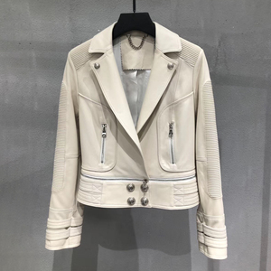 Image 4 - Genuine leather jacket women real leather jacket ladies 2020 new fashion high quality sheepskin coat female