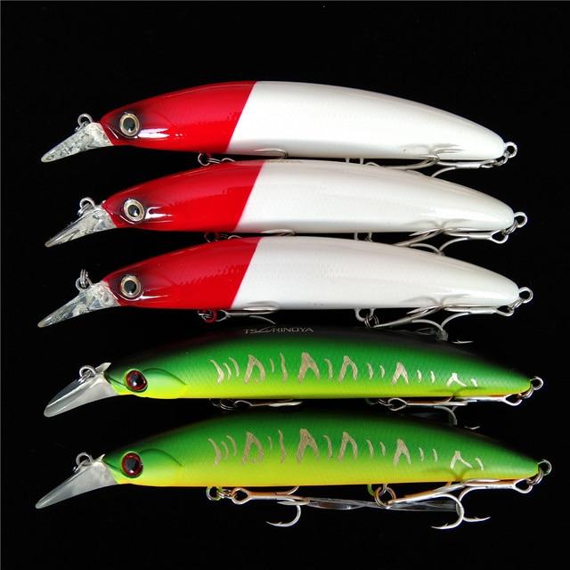 TSURINOYA 5pcs Fishing Lure DW48 110mm 20.5g Deep 1.5m Long Casting Floating Minnow Bass Lure Artificial Bait