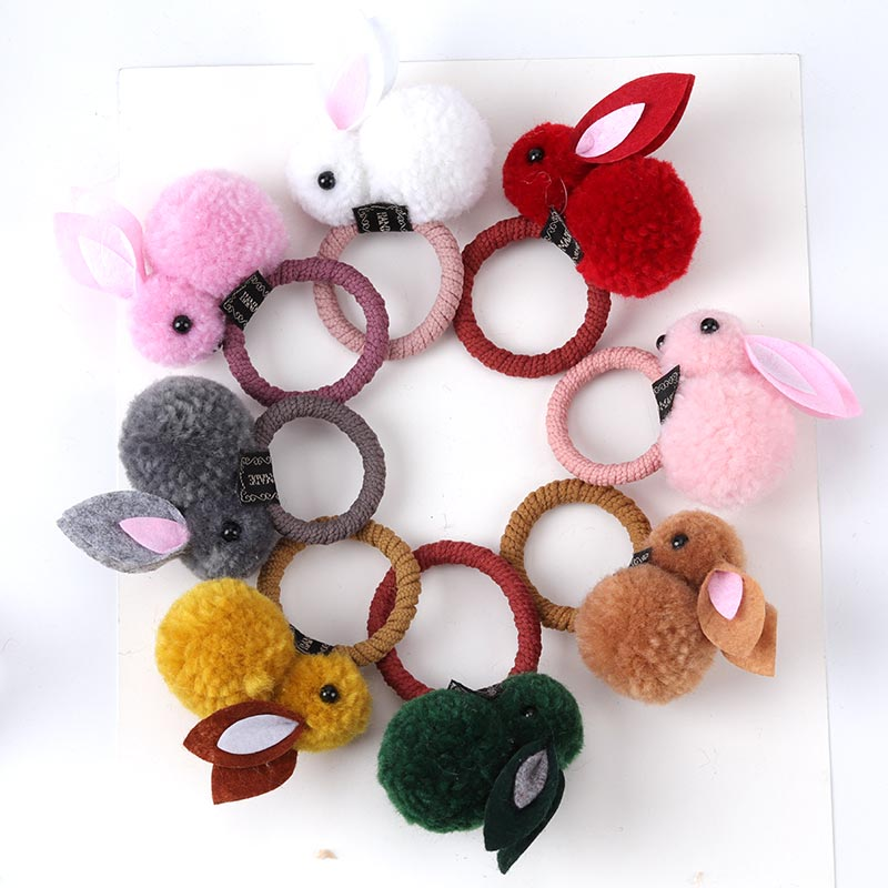 New Cute Animals Rabbit Style Hair Bands For Children Girls Felt Three-Dimensional Plush Ears Headband Accessories