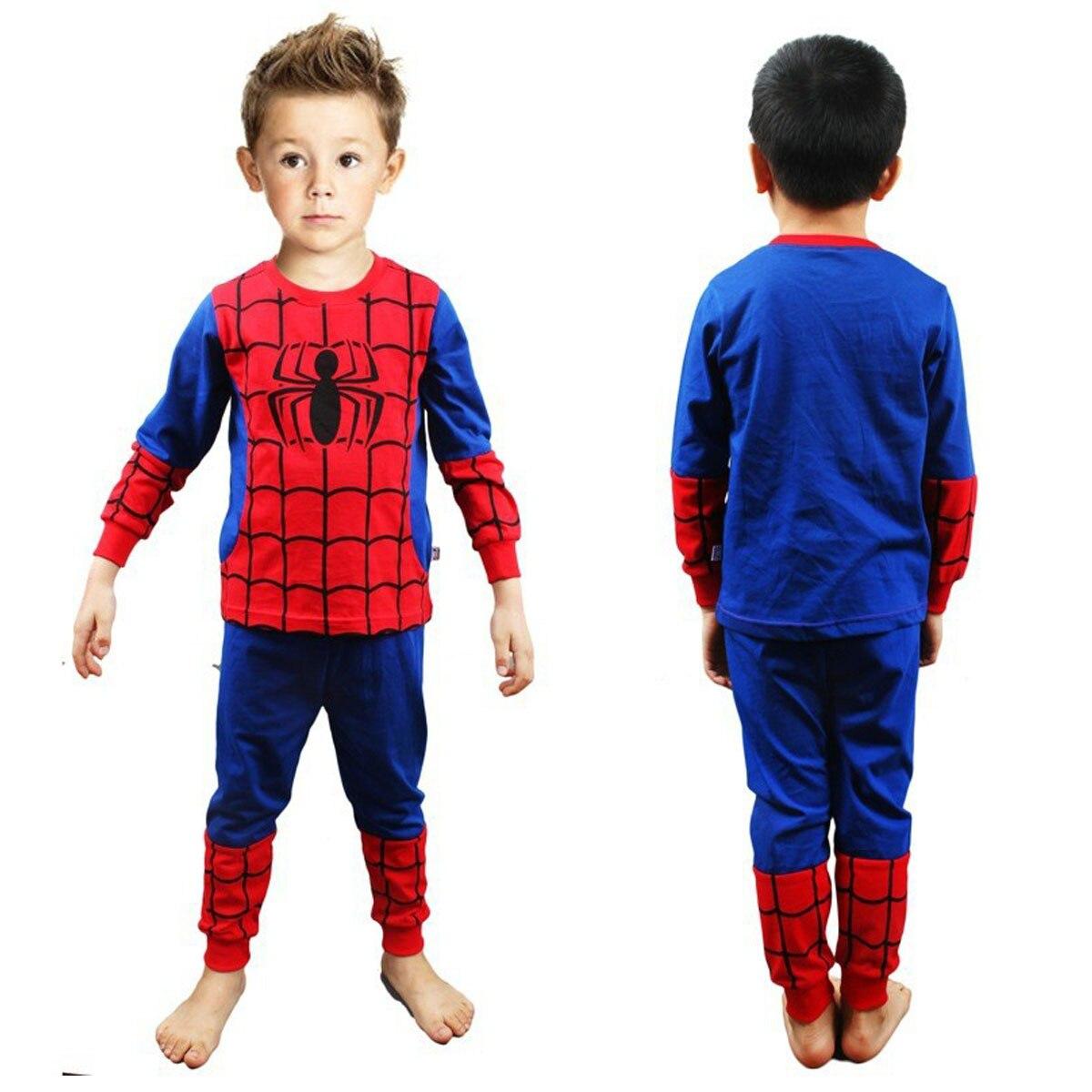 kid Boy Superhero Hulk American Captain Spiderman   Pajamas     Set   Children Avengers Ironman Sleepwear Child Cosplay Nightwear 2PCS
