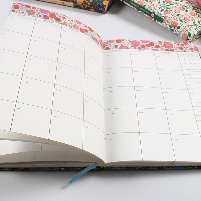 Cute Flowers Leather Notebook Diary Weekly Planner Agenda 2020 Notepad Mini Small Bullet Journal Stationery Filofax Organizer A5 2