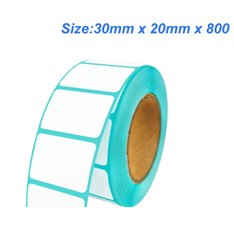 High quality (30mm x 20mm x 800) Thermal label paper  thermal barcode paper for Thermal printers