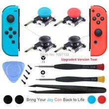 Nintendo anahtarı 3D için Analog Joycon Joystick Thumb çubukları sensörü değiştirmeleri aksesuarları Joy Con denetleyici konut