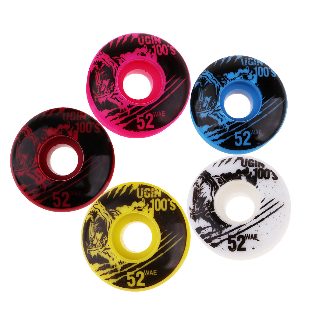 4pcs 52mm 100A High Performance Skateboard Wheels Durable PU Skate Wheels Trolley Wheels 100A Skateboard Part Skates Accessories
