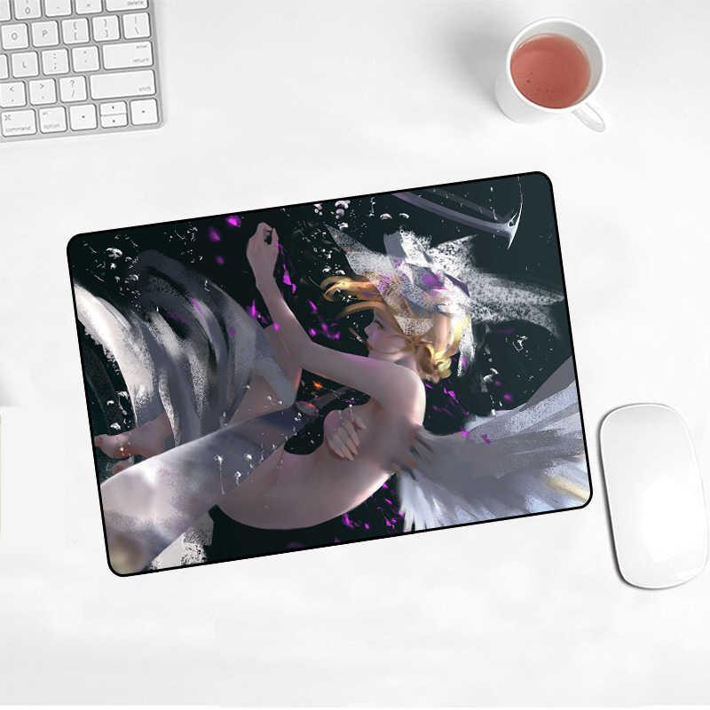 XGZ рекламные горячие аниме призрак нож Алмазный лед принцесса коврик для мыши игровой плеер Нескользящая клавиатура 220X180X2MM CS GO