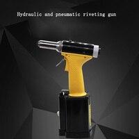 Grau industrial totalmente automático pneumático arma de rebite auto-escorvamento núcleo de aço inoxidável puxando arma de rebite arma ferramenta
