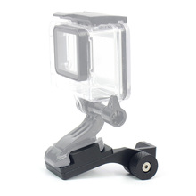 Aluminum Motorcycle Rearview Mirror Mount Bracket Holder for GoPro Hero 4 5 3 2 SJ4000 SJ5000 Camera Accessories