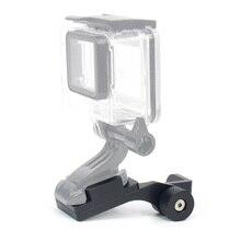 الألومنيوم دراجة نارية مرآة الرؤية الخلفية جبل قوس حامل ل GoPro بطل 4 5 3 2 SJ4000 SJ5000 كاميرا اكسسوارات