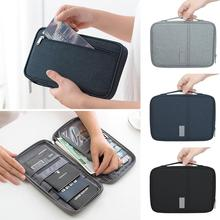 2019 New Travel Passport Wallet Holder Document Organizer bag  Credit Card Package Multi-Card Storage Pack Blocking ID