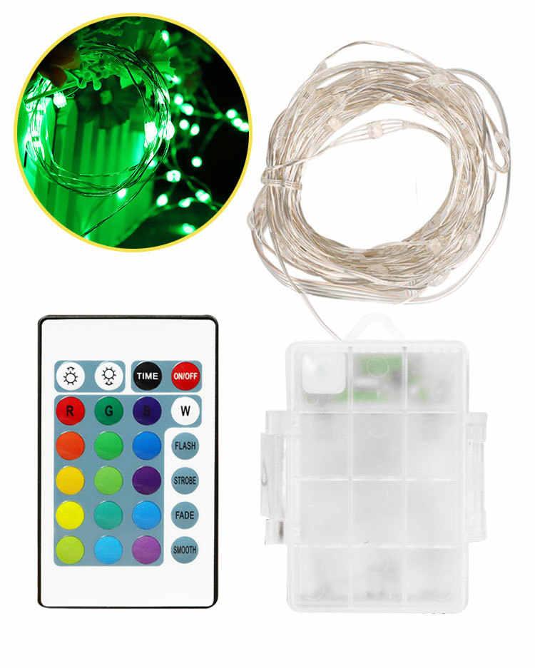 Гирлянда гирлянды светодиодные свет медный провод 50/100 5В USB люстра лампа-вспышка для рождества для дома и улицы украшения