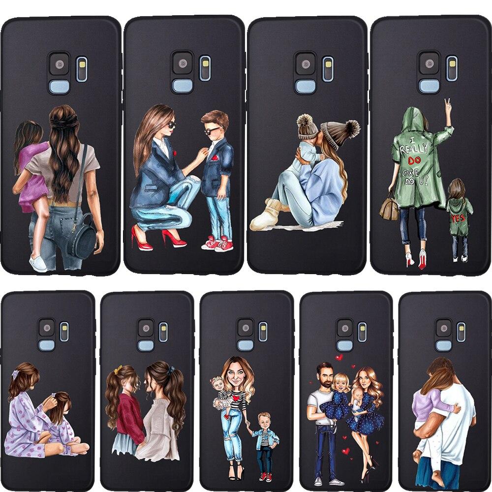 Coque de téléphone Super maman pour filles, étui pour Samsung Galaxy A7 2018 A10 A20 A40 A50 A60 A70 A6 A8 A5 A9 Note 8 10 M10 M60 M20 M30