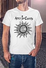 Alice In Chains Men White T-Shirt Rock Band Tee Grunge Shirt Soundgarden(1)(China)