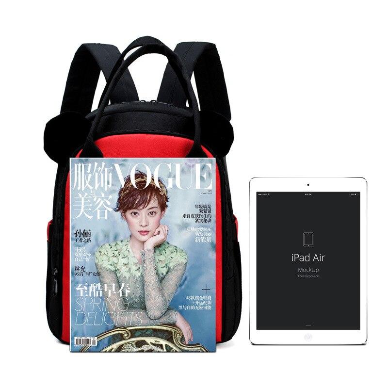 Mommy Bag Multi-functional Large Capacity Backpack Schoolbag Korean-style Cartoon Cute Mom And Baby Diaper Bag Travel