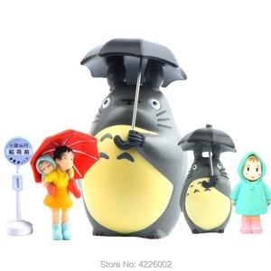 Studio Ghibli Totoro PVC Action Figures Cartoon Anime Figurines Miniature Set Model Umbrella Mei Collectible Dolls Kids Toys(China)