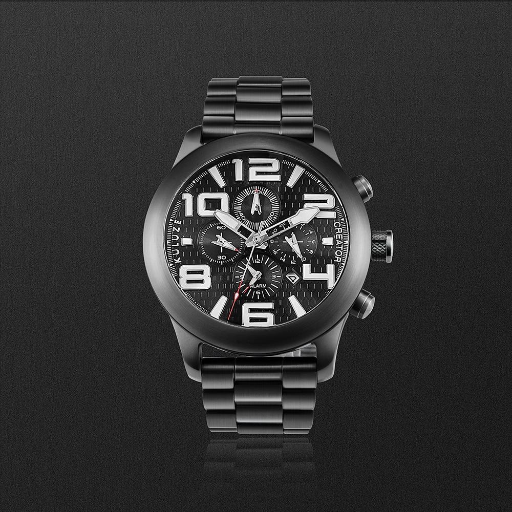 masculino multifunções relógios despertador crono relógio de titânio reloj hombre