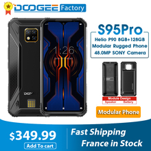 Doogee teléfono inteligente S95 Pro, móvil Modular resistente, 8GB RAM, ROM 128GB, procesador Helio P90, pantalla de 6,3 pulgadas, batería de 5150mAh, Octa Core, cámara de 48.0mp, Android 9