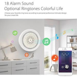 Image 3 - Tuya Wifi Intelligent Siren Sound Alarm Temperature Humidity Sensor APP Control Wireless Secure System WiFi USB Voice Control