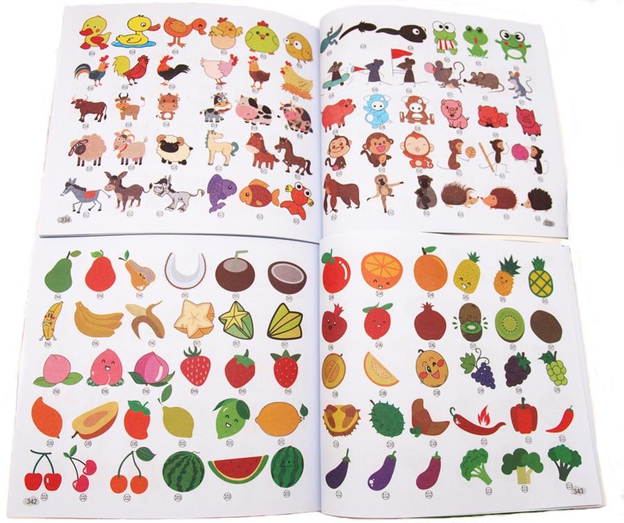 Stick Figure 8000 Cases Children Stick Figure Encyclopaedia Preschool CHILDREN'S Fine Art Teaching Materials Hands Learn To Draw
