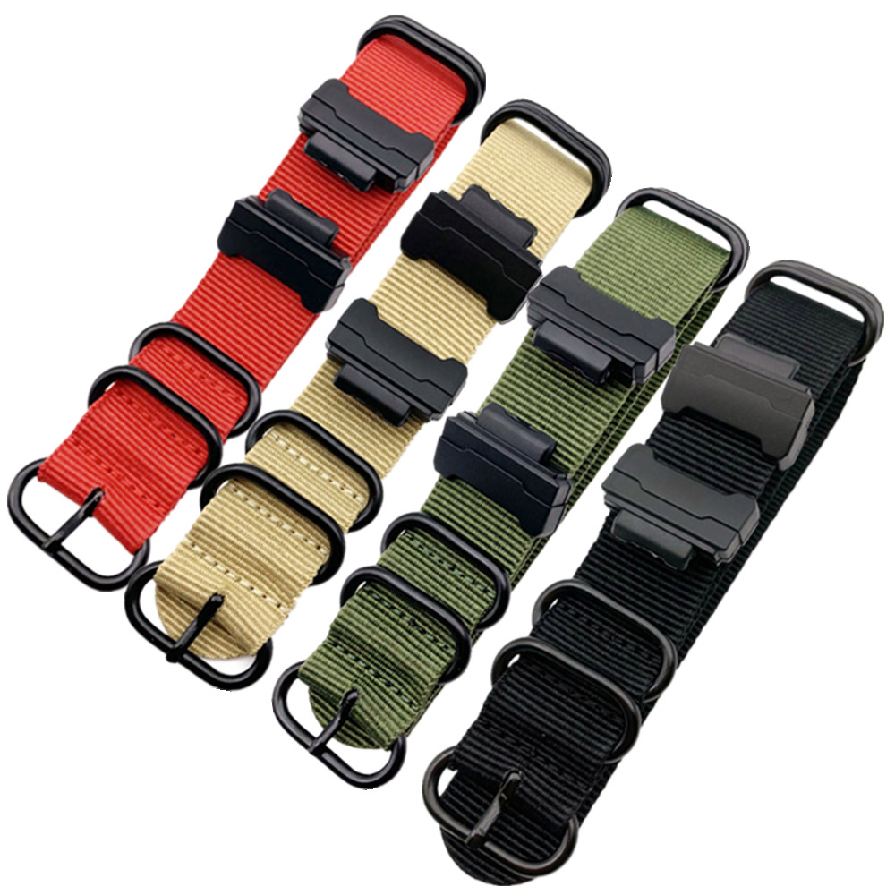 Nylon Watchband for <font><b>G</b></font>-<font><b>shock</b></font> <font><b>DW</b></font>-<font><b>5600</b></font> 6900 GA-110 GW-M5610 <font><b>DW</b></font>-9052/GLS-8900 Series Watch Strap Band + 16mm Interface Terminals image