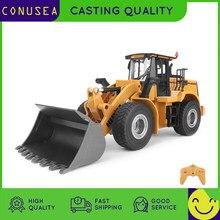 Huina 1:16 rc caminhão bulldozer roda pá carregador trator modelo de engenharia carro 9 canais rádio controlado carros brinquedos para meninos