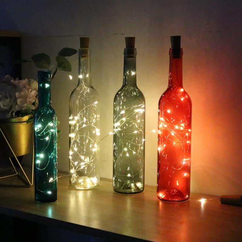 2M 20LED Decorative Wine Bottle Light Cork Lamp DIY Powered Garland For Holiday Decoration Wedding Decoration Light With Battery