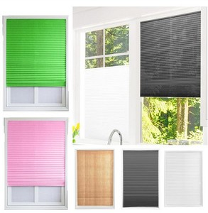 Windows Balcony Shades Self-Adhesive Pleated Blinds Half Blackout For Coffee/Office Window DoorCurtains for Bathroom Kitchen