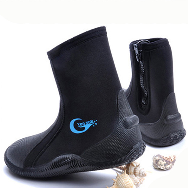 New Men Women Diving Socks Beach Socks Boots 5mm Neoprene Water Shoes Beach Snorkeling Diving Surfing Boots