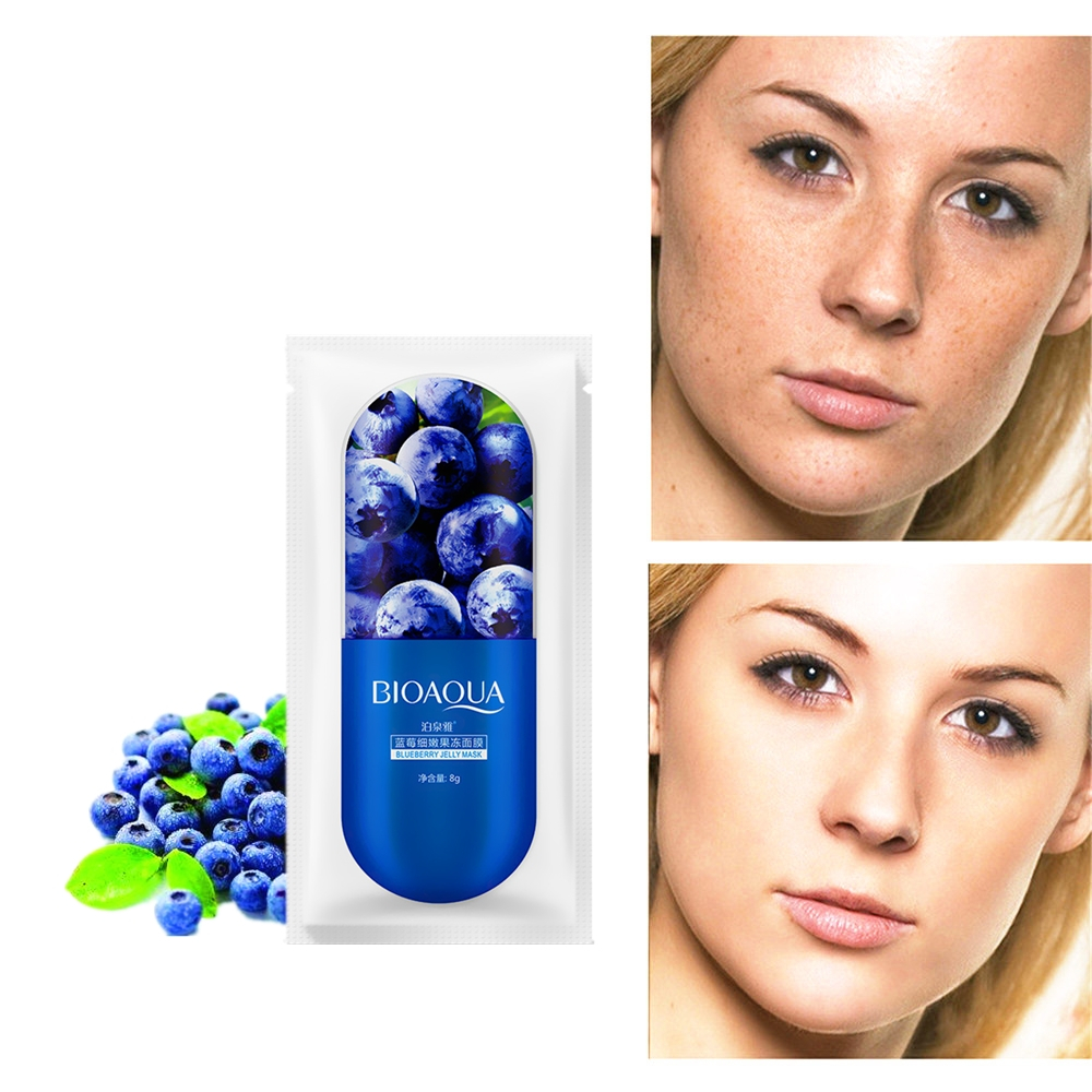New 5 Seconds Wrinkle Remover Under Eye Bags Blueberry Skin Lifting Anti Wrinkle Face Masks Anti Aging Pre-makeup Nourish Mask