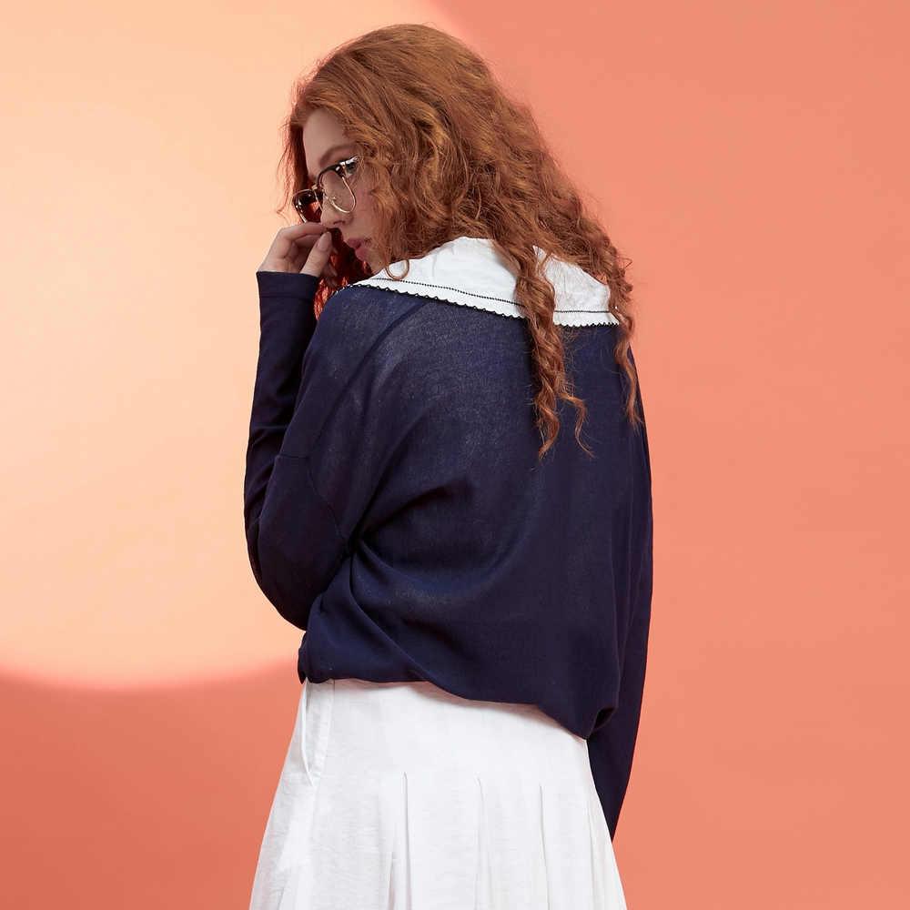 Metersbonwe Cardigan Lavorato A Maglia maglione Delle Donne 2019 di Estate Solido Semplice Luce di Fondo Sottile di Abbigliamento di Moda Cardigan per la Femmina