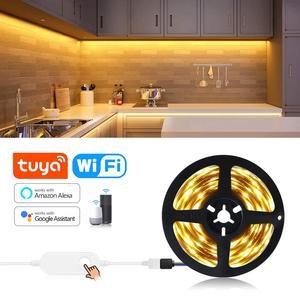 Tuya Smart WIFI led strip lights decoration for wall bedroom Kitchen Cabinet 12V 5M diy for amazon Alexa Google Home Smart Lamp