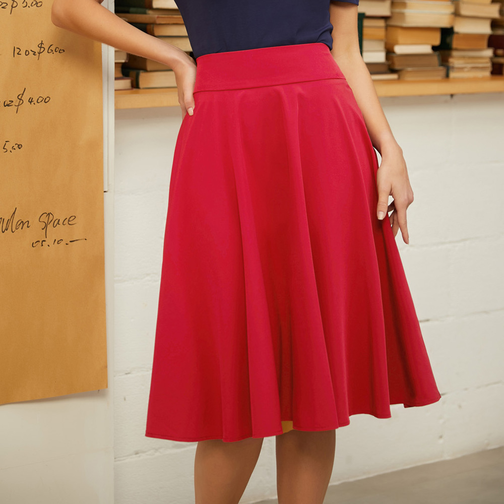 Belle Poque 2019 Pleated Skirts Women High Waist Skirt Butterfly Solid Causal Midi Skirts Black Skirts Women Plus Size Skirt
