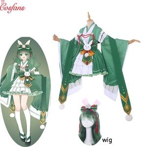 Mój bohater akademia mały bohater Izuku Midoriya deku damska sukienka przebranie na karnawał japońskie Kimono Anime Cosplay mundury i peruka