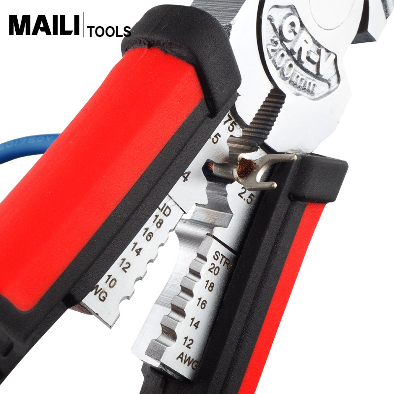Image 2 - QUK Multitool Crimping Tool Wire Stripper Pliers Cable Cutter Crimper Crimp Long Nose Pliers Tools Electrical For ElectriciansPliers   -