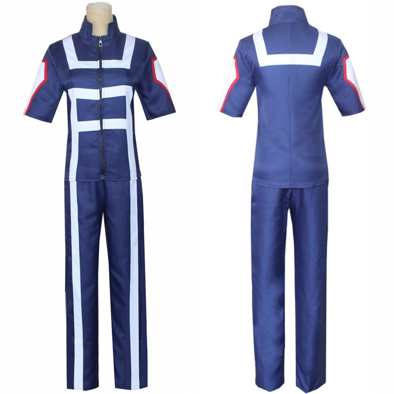 Meu herói academia boku nenhum herói cosplay traje masculino feminino uniforme escolar ginásio terno tshirt calças midoriya izuku todoroki shouto
