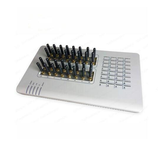 Passerelle GoIP de passerelle VoIP GSM 32 SIMs, SMS en vrac, 32 puces, GOIP32, passerelle GSM, canaux elastix 32 GSM astérisque, routeur