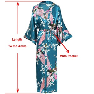 Exquisite Print Flower Women Robe Kimono Gown Elegant Casual Long Bathrobe Gown Satin Soft Material Bride Wedding Robe Sleepwear(China)