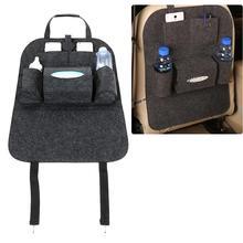 Car Seat Back Storage Bag Auto Back Seat Felt Hanging Organizer Collector Box Storage Hold Bag Multi-Pocket Car Accessories