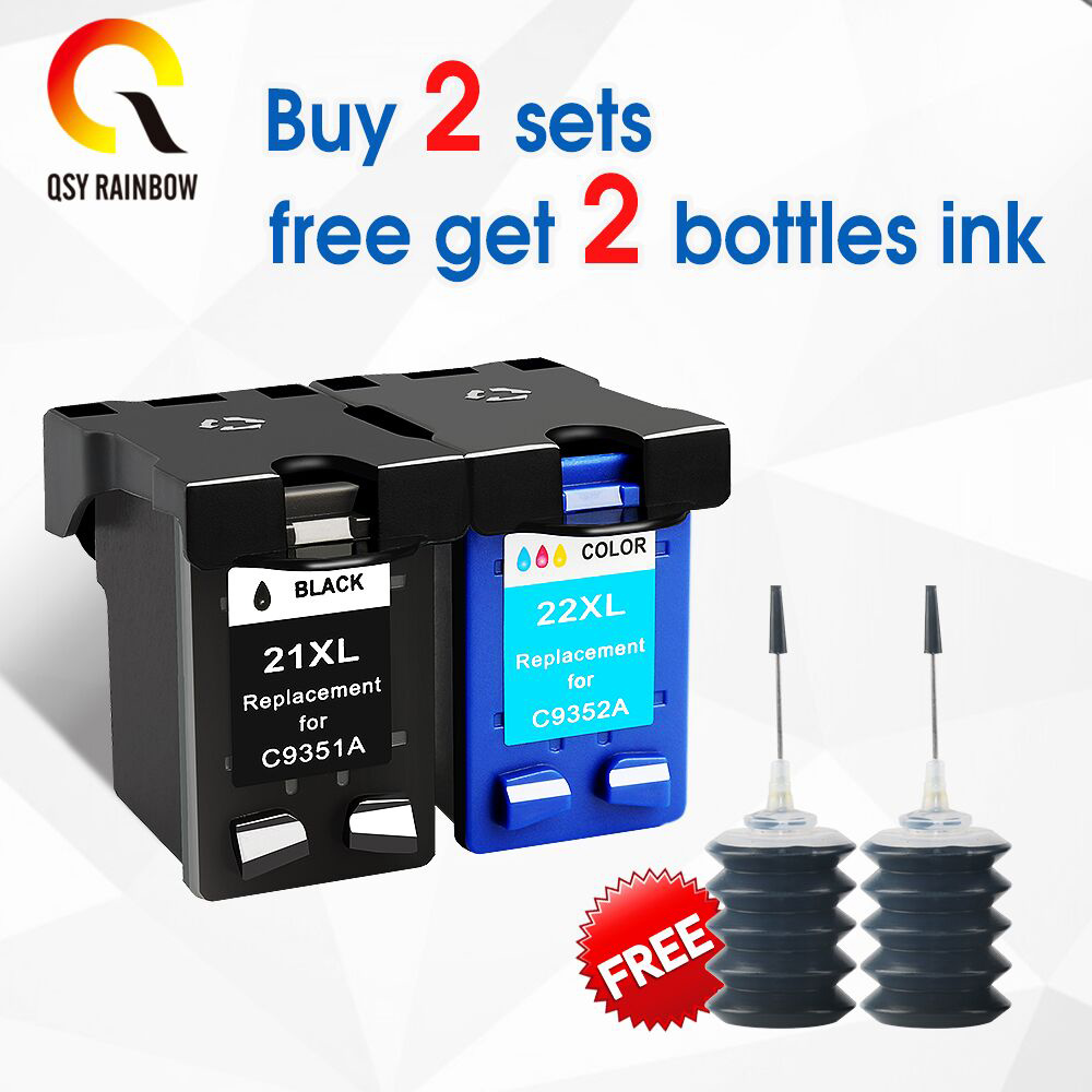 2 Pack Compatible with HP 21XL Black Ink Cartridge For Deskjet D1415 D1420 F2110