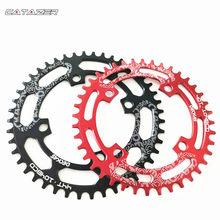 104bcd 40/42/44/46/48/t redondo mountain bike chainwheel mtb bicicleta cárter de alumínio estreito largo chainring bcd 104 redondo