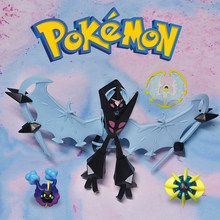 4pcs Genuine Kid Children Halloween Gift Pokemon Anime-action-figures-model Mega Evolution Lunala Dawn Wings Necrozma Animation