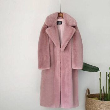 New Women Winter Warm Faux Fur Coat Thick Women Long Coat Turn Down Collar Women Warm Coat With Belt Casaco Feminino 16