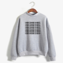 BTFCL Ariana Grande Sweatshirt Women Harajuku Sweetener Thank U Next Letters Printed Hoodies Fleece Sweatshirts Kpop Pullover
