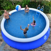 Inflatable Swimming Pool Adults Kids Pool Bathing Tub Outdoor Indoor Round Swimming Pool Paddling Pool Large Size Inflatable