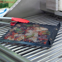 1pc PTFE Non-stick BBQ Mesh Grilling Bag Barbecue Baking Liners Reusable Cooking bags Outdoor Picnic Tool