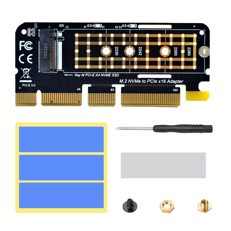 NVME Adapter <font><b>M.2</b></font> NVME PCIE to M2 Adapter SSD M2 NVME <font><b>PCI</b></font> Express X16 X8 <font><b>X4</b></font> Raiser <font><b>M.2</b></font> PCIE SSD <font><b>PCI</b></font>-E <font><b>M.2</b></font> Adapter Add On Card NEW image
