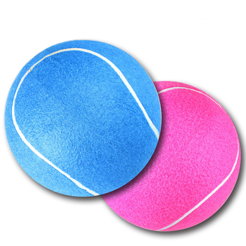 8 Inch Commemorative High Quality Signature Tennis Large Pet Toy Inflatable Tennis Balls Two Colors Are Randomly Sent