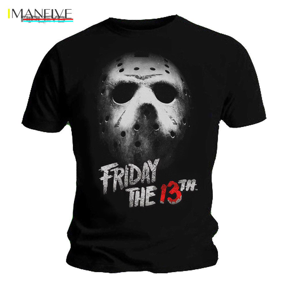 2019 Fashion Black T Shirt FRIDAY 13th Slasher Horror MASK Jason Voorhees All Sizes Tee shirt in T Shirts from Men 39 s Clothing