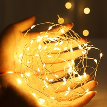 Led-String-Lights Lamp Wedding-Decoration Garland-Room Copper-Wire Christmas Indoor 1-10M